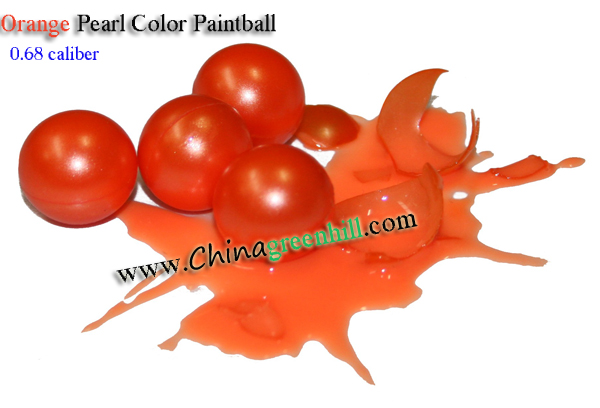 0.68 Cal Training Paintballs-Orange Color